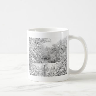 Winter Snow At Huron River Coffee Mug