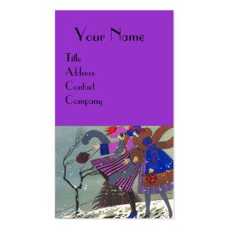 WINTER SNOW / BEAUTY FASHION  COSTUME DESIGNER BUSINESS CARD