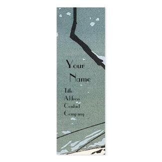 WINTER SNOW / BEAUTY FASHION  COSTUME DESIGNER MINI BUSINESS CARD
