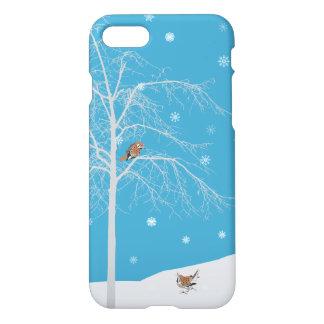 Winter Snow Bird Tree Phone Case