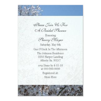 Winter Snow Bridal Shower Invitations