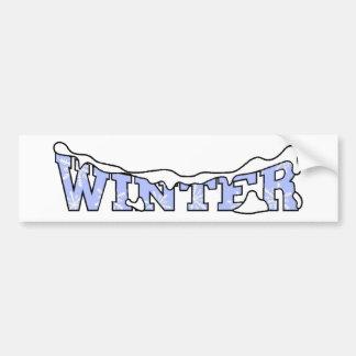 Winter Snow Bumper Sticker