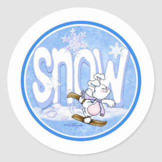 Winter - Snow Bunny Classic Round Sticker