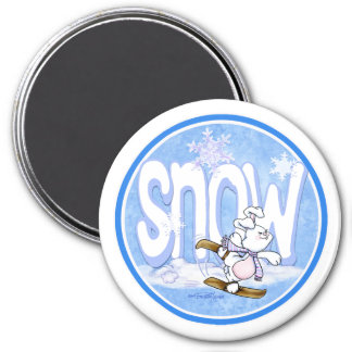 Winter - Snow Bunny Magnet