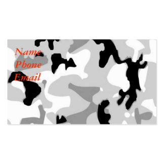 Winter/Snow Camouflage Double-Sided Standard Business Cards (Pack Of 100)