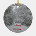 Winter SNow Christmas ornament