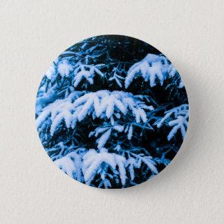 Winter Snow Christmas Tree Pinback Button