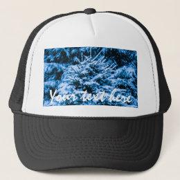 Winter Snow Christmas Tree Trucker Hat