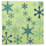 Winter Snow Cloth Napkins
