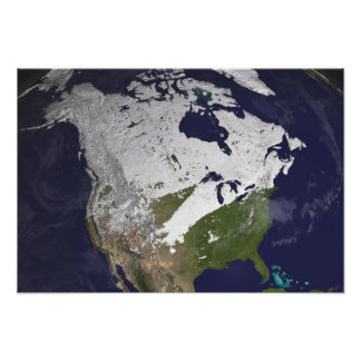 Winter Snow Cover in the Northern Hemisphere Photo Print