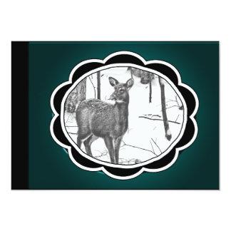 Winter Snow Covered Deer Card