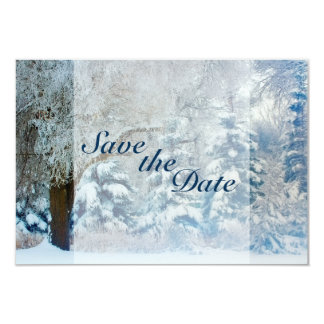 Winter Snow Covered Trees Wedding Save the Date Card