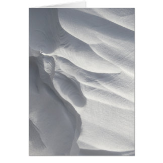 Winter Snow Drift Sculpture Card