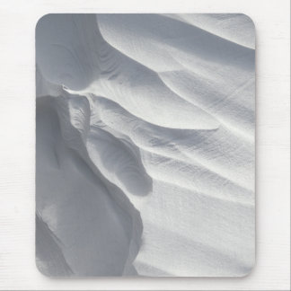 Winter Snow Drift Sculpture Mouse Pad