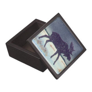 Winter Snow Dusted Moose Gift Box