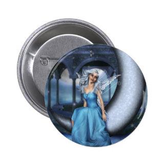 Winter Snow Fairy 2 Inch Round Button
