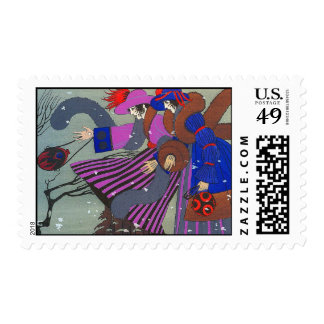 WINTER SNOW / FASHION COSTUME DESIGNER POSTAGE STAMPS