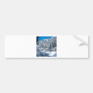 Winter Snow Flocks Yosemite Bumper Sticker
