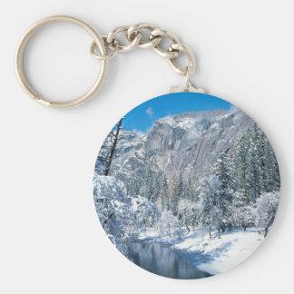 Winter Snow Flocks Yosemite Keychain