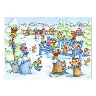 Winter Snow Garden -  Greeting Card & Envelope