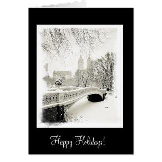 Winter Snow - Happy Holidays Card