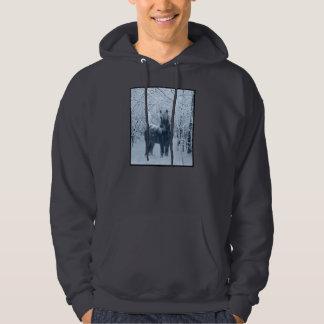 Winter snow horse hoodie