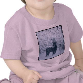 Winter snow horse tee shirt