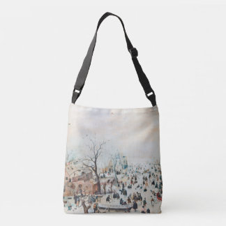 Winter Snow Ice Skaters Holland Canal Tote Bag