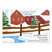 Winter Snow Invitation