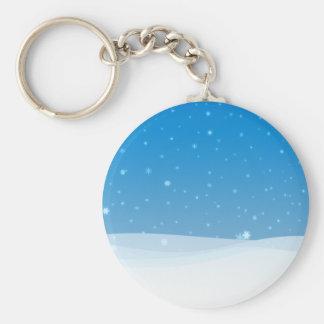 Winter Snow Keychain
