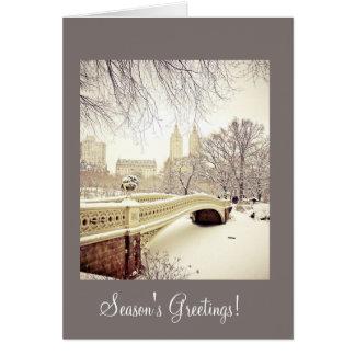 Winter Snow Landscape - Season's Greetings Card