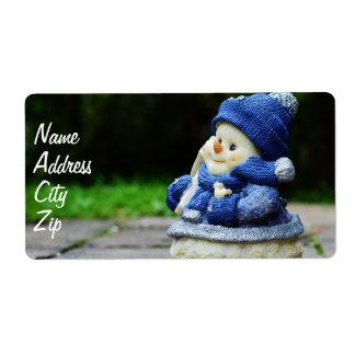 winter, snow man, fig, snow, snowmen, wintry, deco label