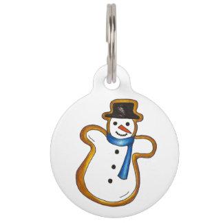 Winter Snow Man Snowman Sugar Cookie Dog Pet Tag