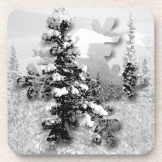 Winter Snow; Merry Christmas Coaster