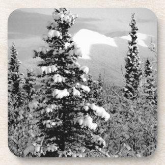 Winter Snow; Merry Christmas Drink Coaster