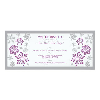Winter Snow New Year's Eve Party Invite (lilac)