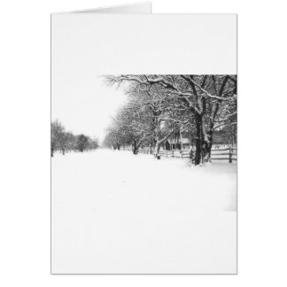 Winter Snow on Parley Street Card