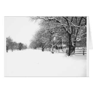 Winter Snow on Parley Street Greeting Card