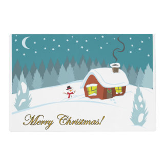 Winter Snow Placemat