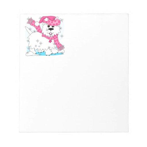 Winter snow play memo note pad