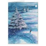 Winter Snow Rabbit by BiHrle Card