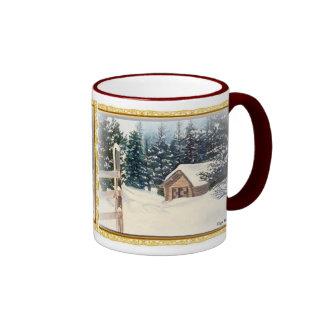 Winter Snow Ringer Mug
