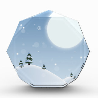Winter Snow Scene Acrylic Award