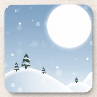 Winter Snow Scene Coaster
