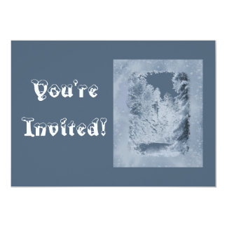 Winter Snow Scene Country Christmas Party Card