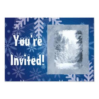 Winter Snow Scene Country Christmas Party Custom Card