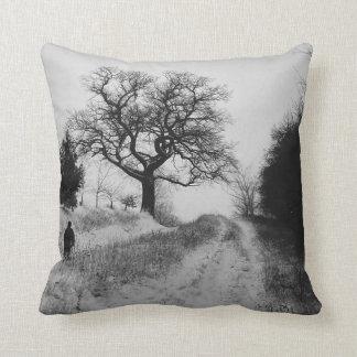 winter snow scene photographic art pillow