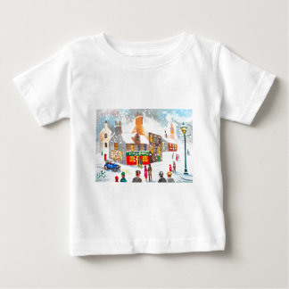 Winter snow scene watercolour painting G Bruce Baby T-Shirt