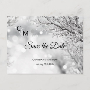 winter save the date gifts on zazzle