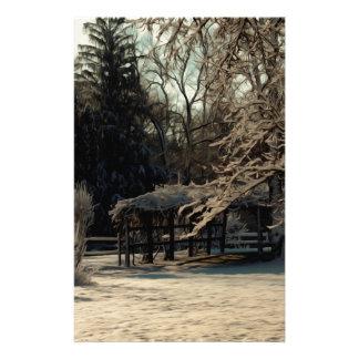 Winter Snow Custom Stationery